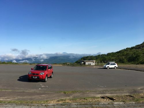 オロフレ峠展望台の駐車場