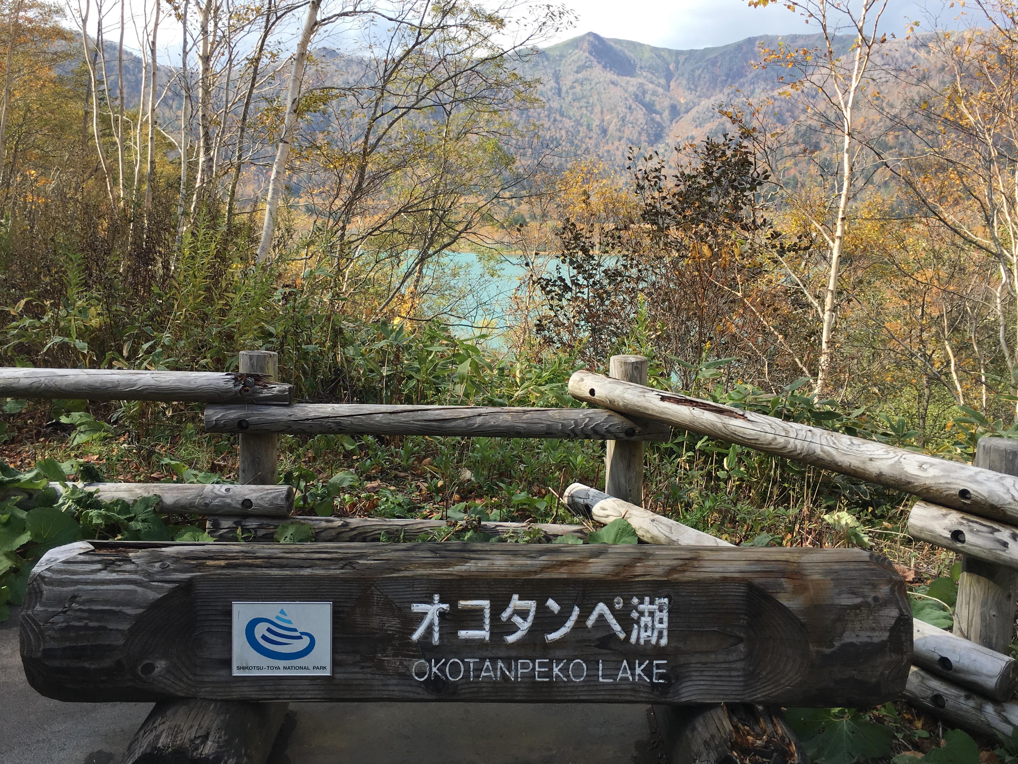 オコタンペ湖正面