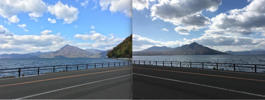 秋の支笏湖