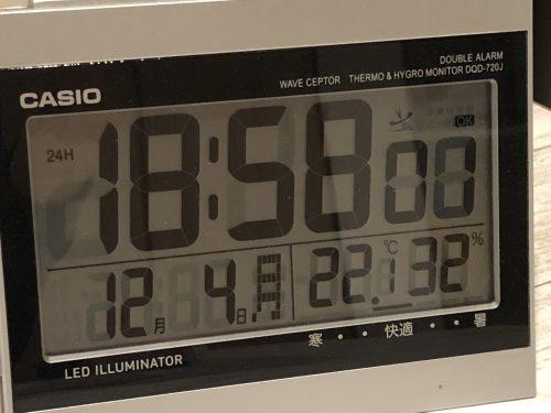 12月の室温