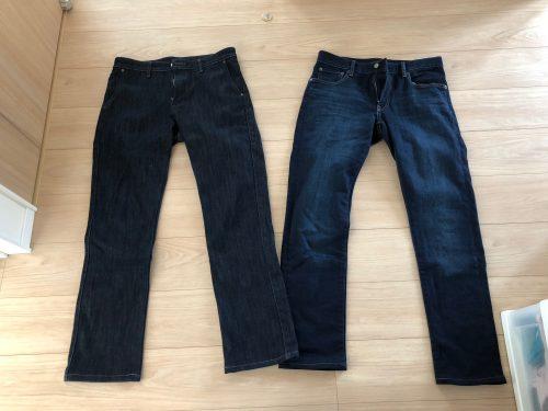 ユニクロとEDWINの暖かいジーンズ