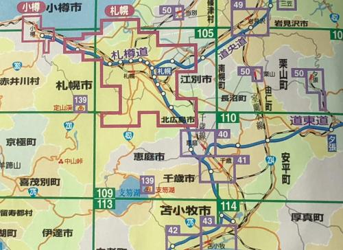 札幌周辺の市の位置関係