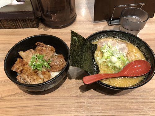 十勝ホエー豚丼セットハーフらー麺