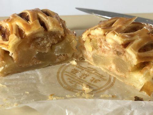 北菓楼のアップルパイの断面