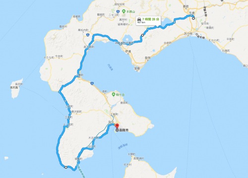 新千歳空港から函館
