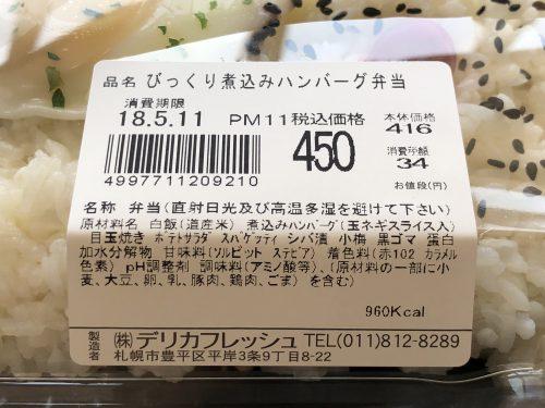 煮込みハンバーグ弁当の原材料