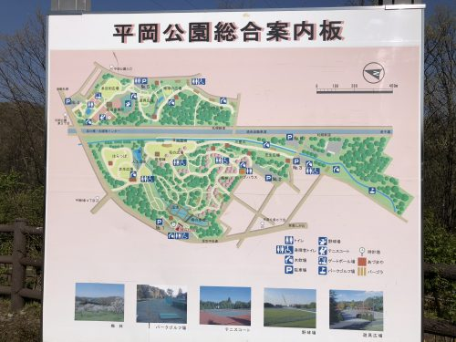 平岡公園のマップ