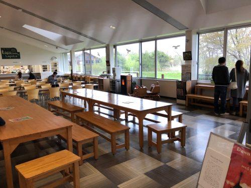 ウトナイ湖の食堂