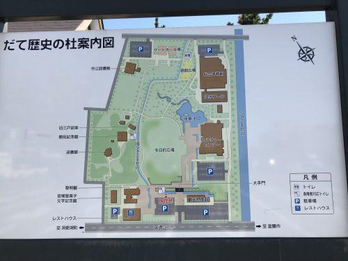 伊達道の駅全体マップ