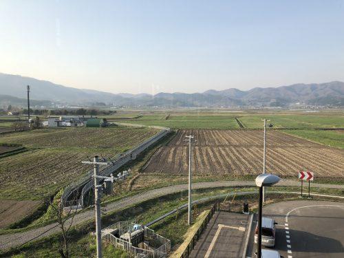新函館北斗駅から風景田園地帯