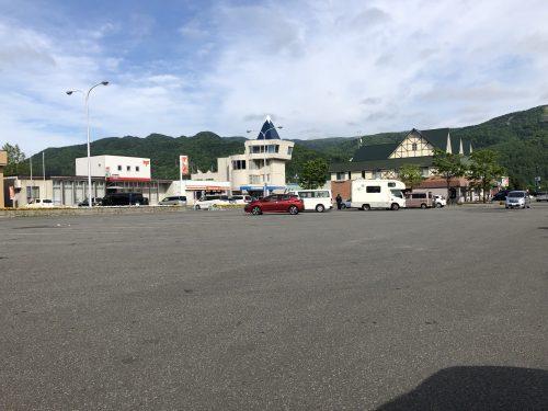 樹海ロード日高の駐車場