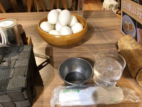 白樺山荘のゆで卵食べ放題