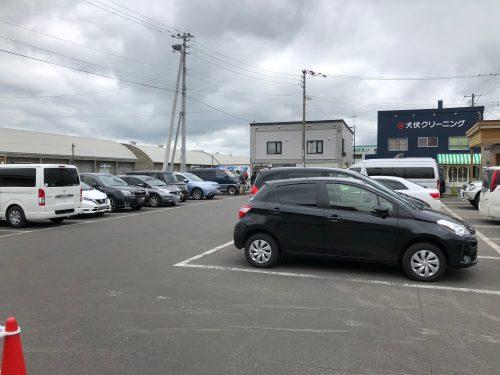 美瑛の道の駅丘のくらの駐車場