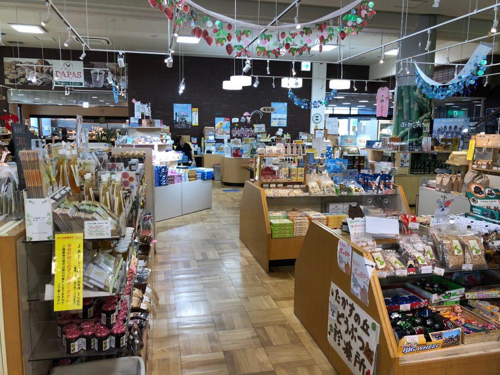 旭川の道の駅の売店