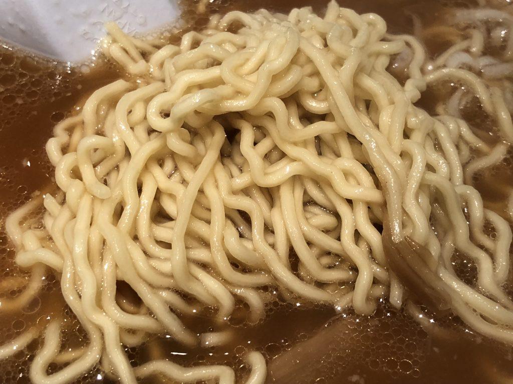 梅光軒のラーメンの麺