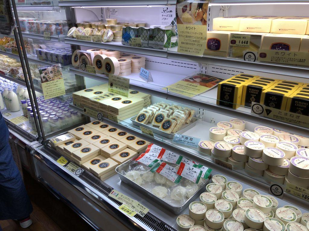 富良野チーズ工房の売店