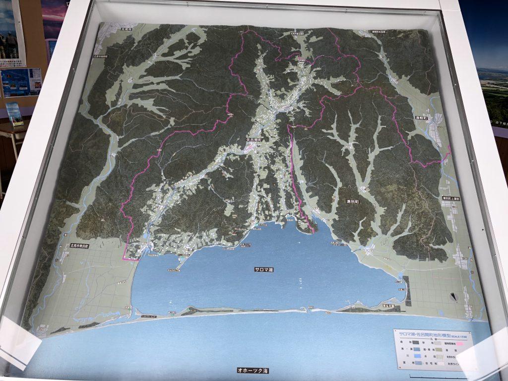 サロマ湖周辺の模型