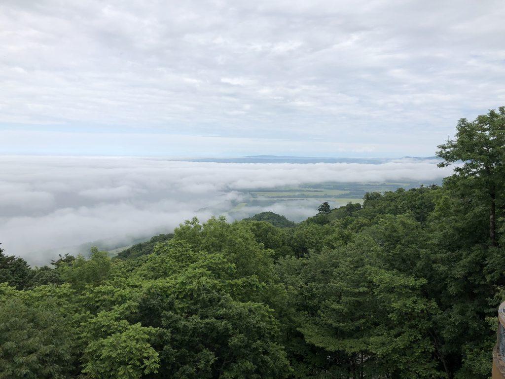サロマ湖展望台から見た雲海