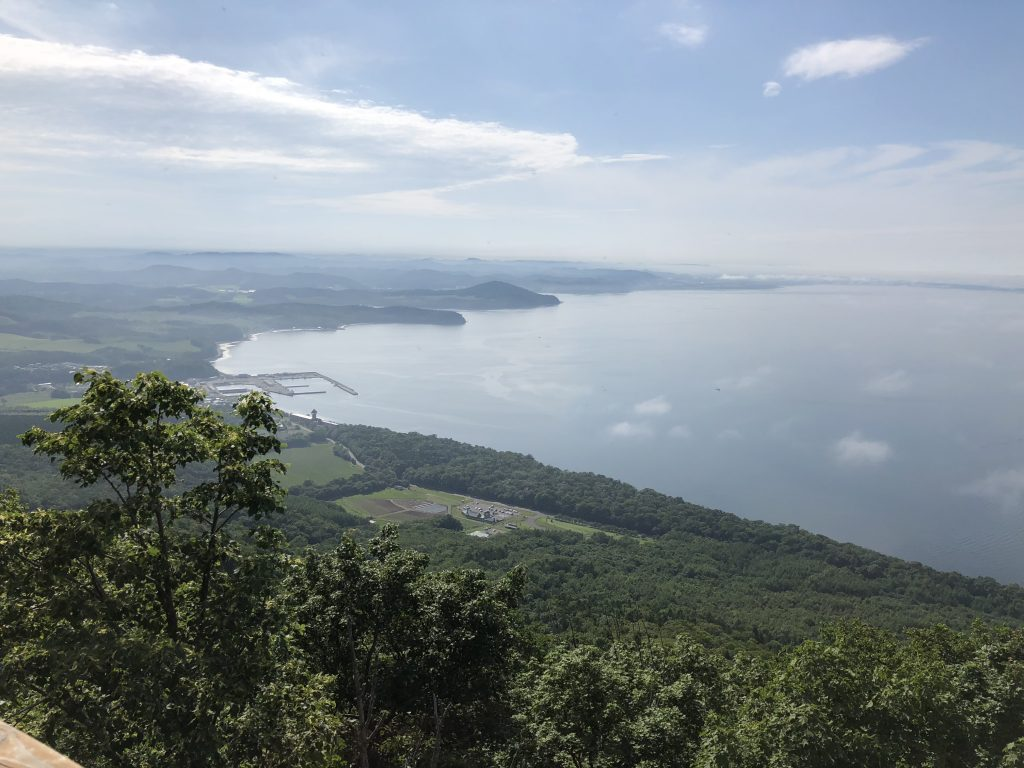 サロマ湖展望台から見たサロマ湖