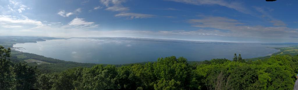 サロマ湖展望台からのサロマ湖全景