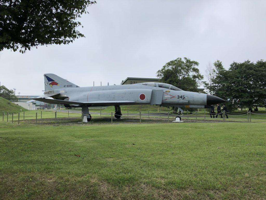 千歳基地内の戦闘機の模型2