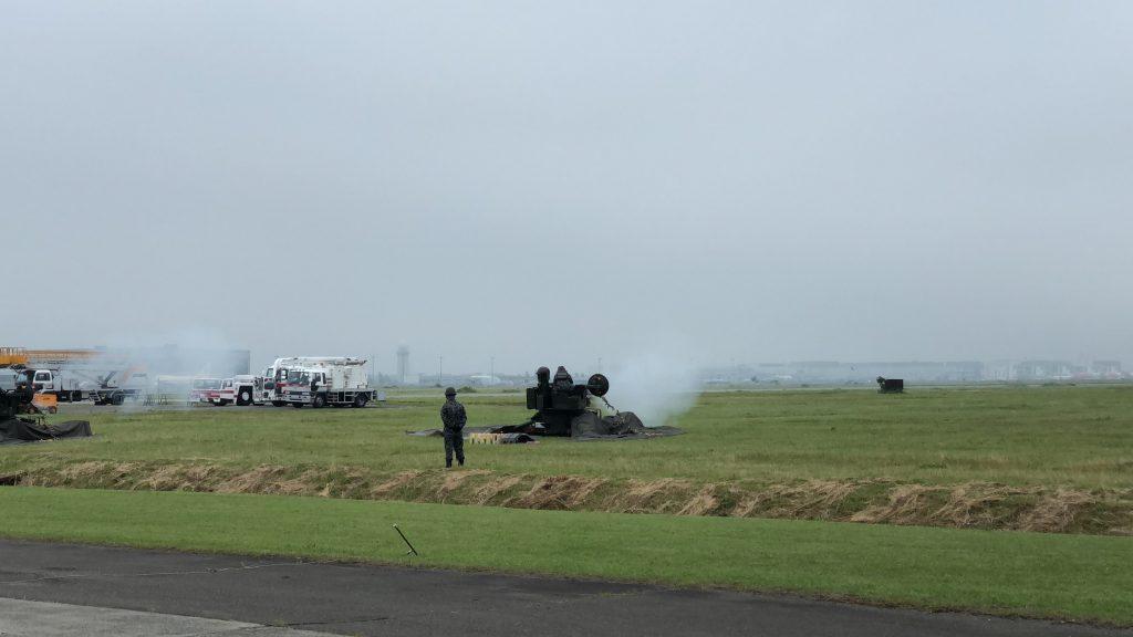 千歳航空祭での対空砲