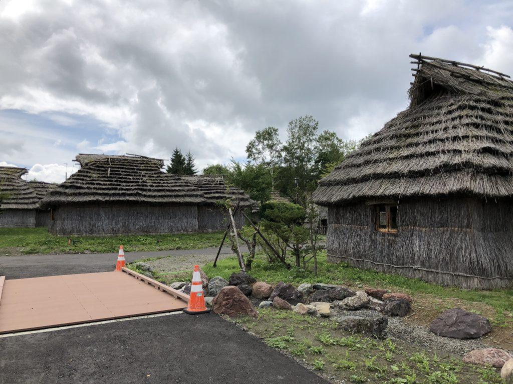 二風谷アイヌ文化博物館のアイヌ人住居